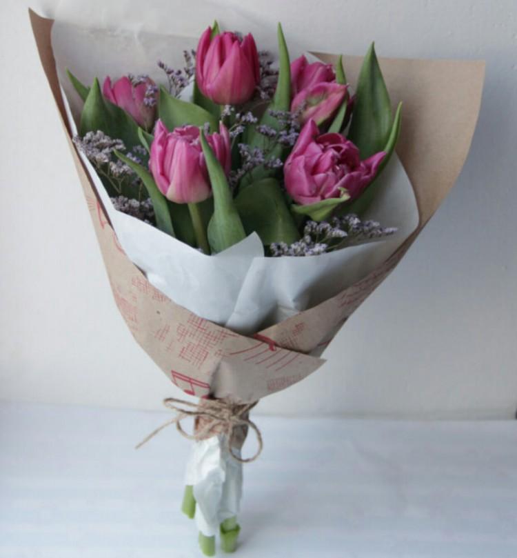 Букет с 5 тюльпанов, цветов нефтекамске